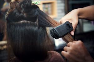 Beautiful Women's haircut. hairdresser, beauty salon
